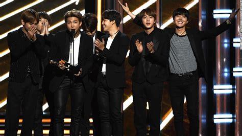 BTS KPop band beats US stars to win Billboard Music Award ...