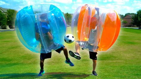 Bubble Soccer Challenge!  MattyBRaps vs Justin    YouTube