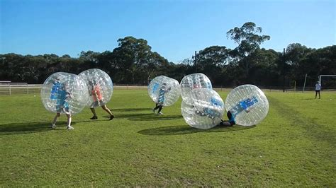 Bubble Soccer   Flying Kickoff   YouTube