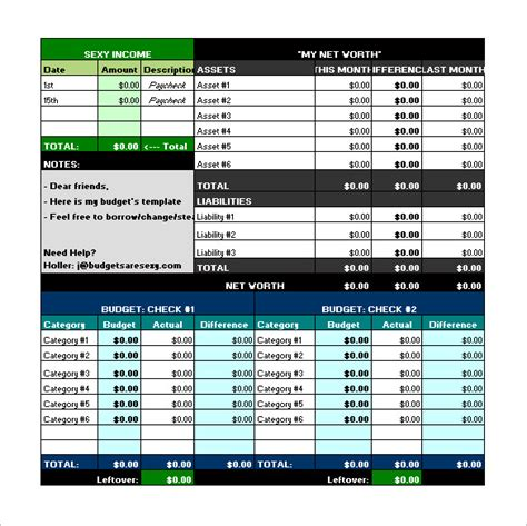 Budget Template – 41+ Free Word, Excel, PDF Format ...