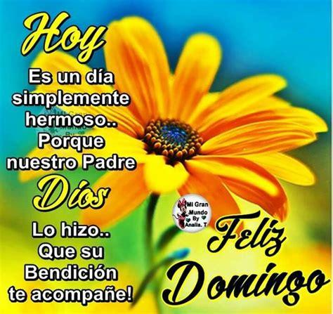 Buenos dias | Domingo | Sunday greetings, Good morning y ...