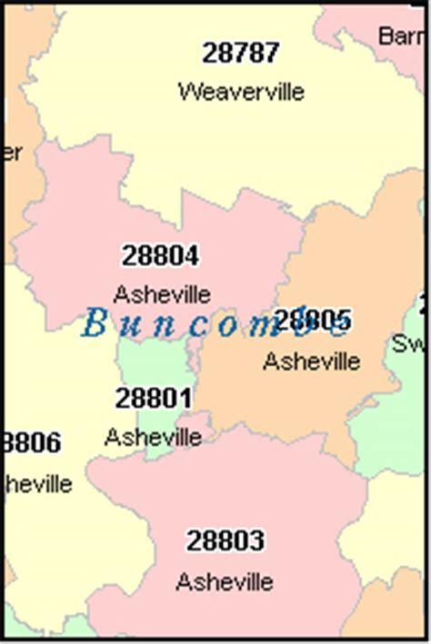 BUNCOMBE County, North Carolina Digital ZIP Code Map