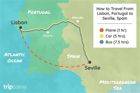 Bus Travel From Lisbon Portugal To Seville Spain ...