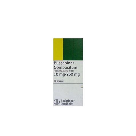 BUSCAPINA COMPOSITUM  Hioscina/metamizol sódico  20 ...