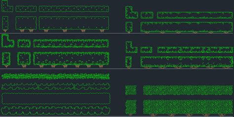 Bushes     Free CAD Block And AutoCAD Drawing