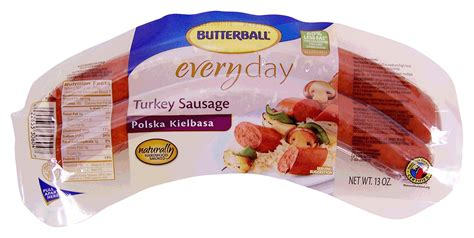 butterball turkey sausage nutrition