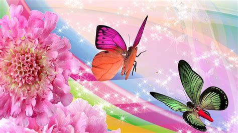 Butterflies and flowers wallpaper | Butterfly Art ...
