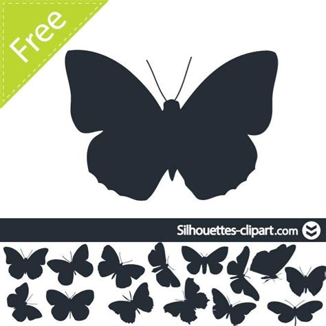 BUTTERFLIES SILHOUETTES VECTOR - Download at Vectorportal