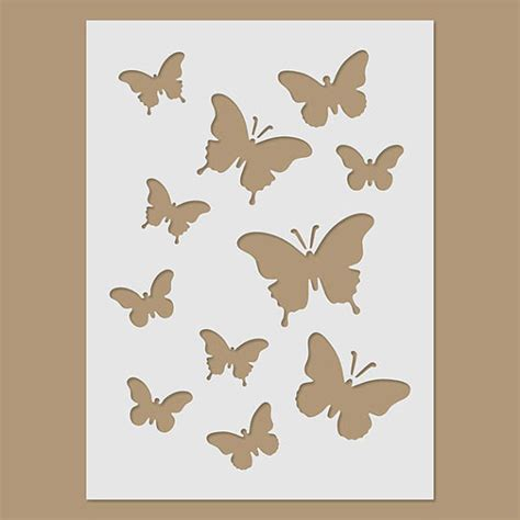 Butterflies Stencil