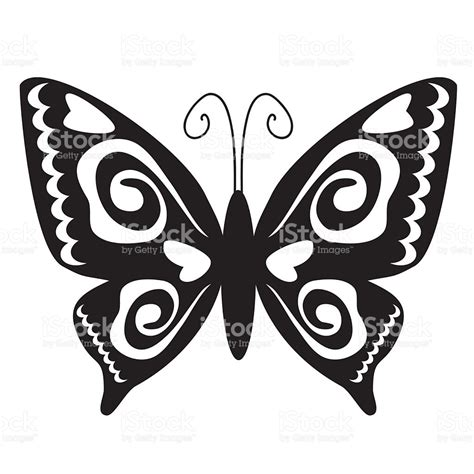 Butterfly Silhouette Vector Illustration stock vector art ...