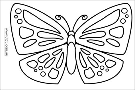 Butterfly template | Arts and Crafts Templates | Pinterest ...