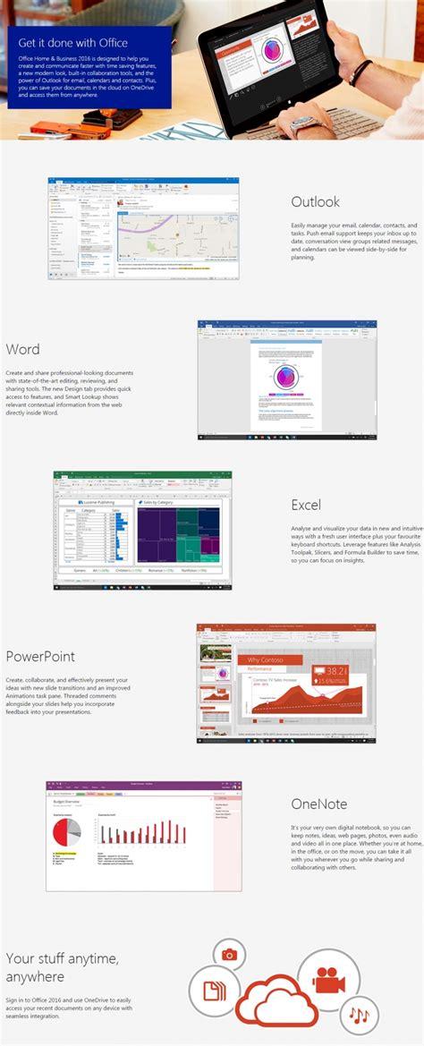 BUY Microsoft Office 2016 Home & Business  32/64 Bit ...
