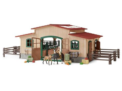 Buy Schleich - Horse stable with accessories (42195 ...