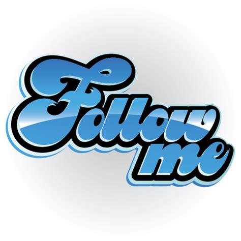 Buy vector follow me icon logo graphic royalty free vectors