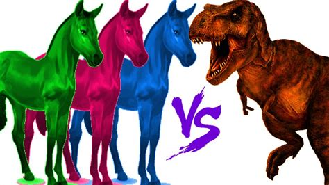 Caballo vs dinosaurios peleas reales | Rimas infantiles ...