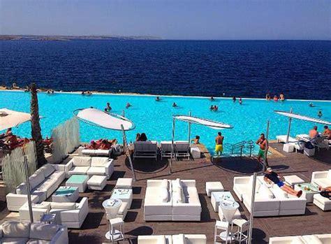 cafe del mar   pool view   Picture of Cafe del Mar Malta ...