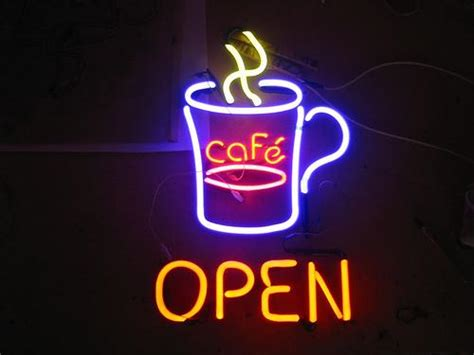 Cafe Open from Planet Neon Signs and Artwork in Two Rivers ...