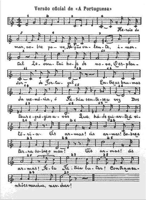 CAIXA DE MÚSICA: Partitura do Hino Nacional  melodia + texto