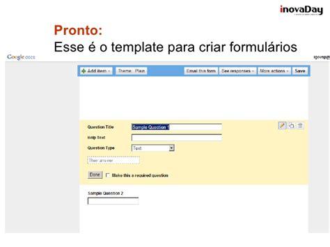 Caixa Ferramenta Form Google Docs