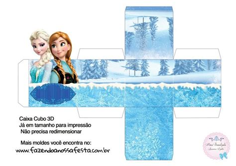 Caja cubo. Frozen. | moldes de cajas y kits para fiestas ...
