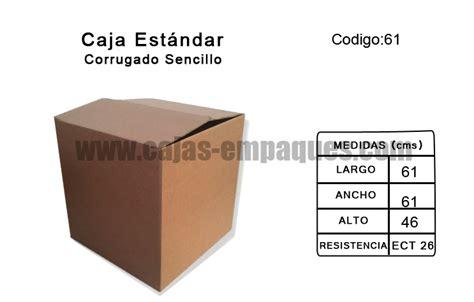 Caja de Cartón estandar corrugado sencillo modelo Z 61 ...