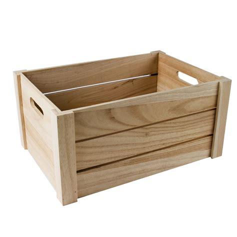 Caja de madera natural de 3 listones grande | Tienda ...
