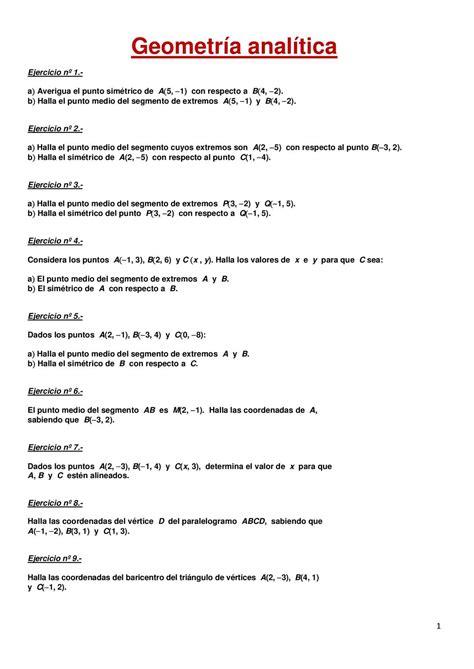 Calaméo - 20 EJERCICIOS RESUELTOS DE GEOMETRIA ANALITICA