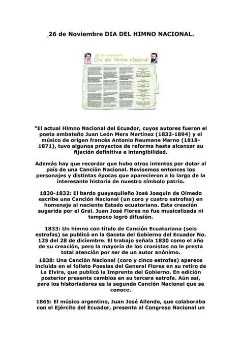 Calaméo - Dia del Himno Nacional del Ecuador