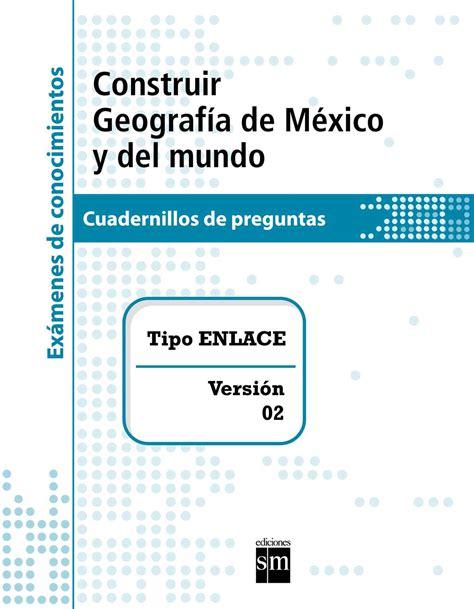 Calaméo - Examen tipo enlace de Geografía de México y el mundo