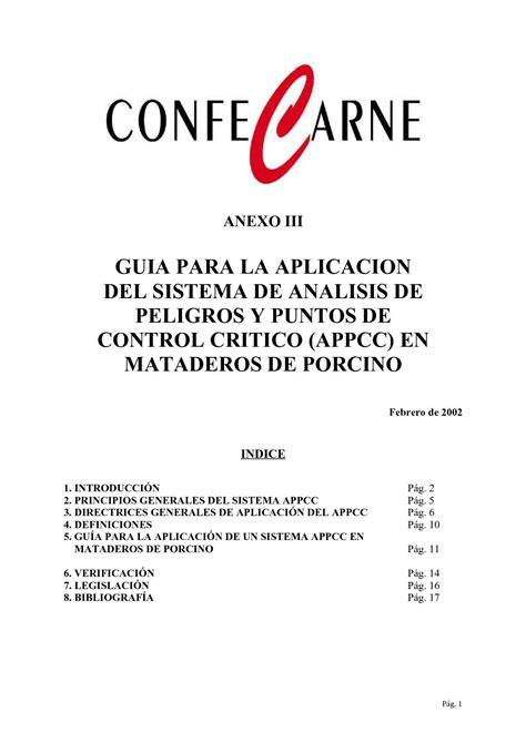 Calaméo   Guia APPCC en Mataderos Porcino