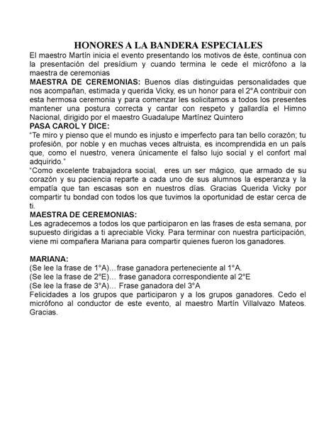 Calaméo - Honores A La Bandera Especiales
