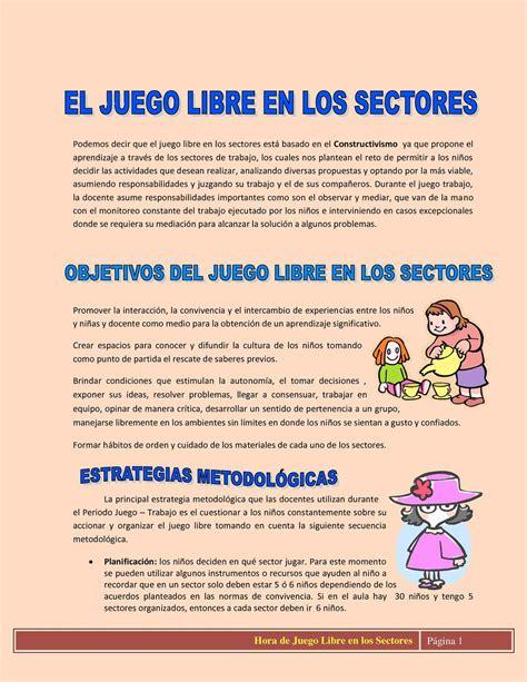 Calaméo - Hora de Juego Libre en los Sectores