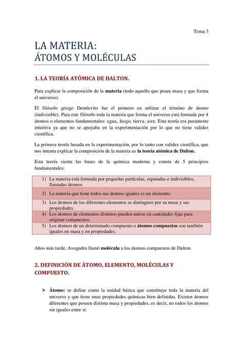 Calaméo   LA MATERIA: átomos y moléculas