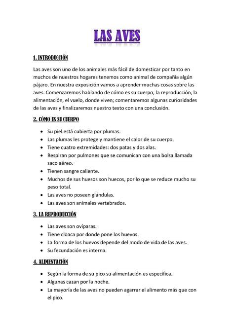 Calaméo   Las Aves   Texto expositivo