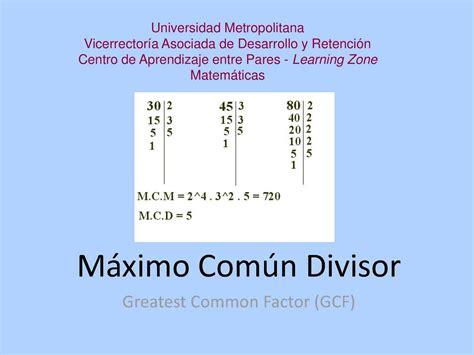 Calaméo   Máximo común divisor