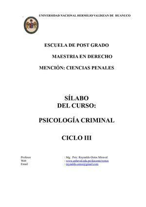 Calaméo   psicologia Criminal  Maestria en Derecho Penal ...