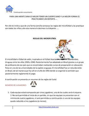 Calaméo   reglamento de microfutbol