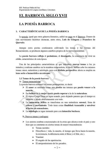 Calaméo - Tema 4: Poesía y Prosa Barroca