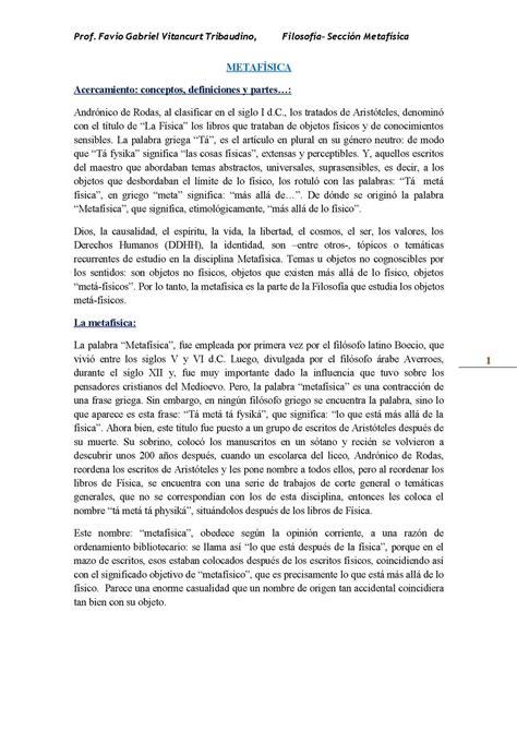 Calaméo   Vitancurt, Favio Metafísica, Acercamiento ...