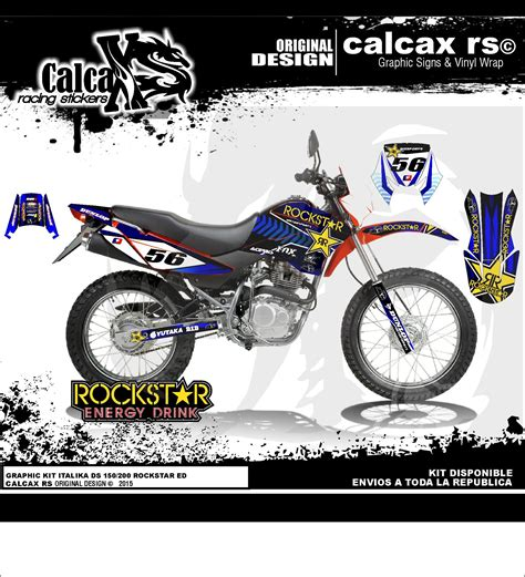 Calcax Racing Stickers Diseño Motocross   Autos y Motos ...
