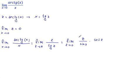 Calcolare il lim [arctg x /x], per x → 0   YouTube