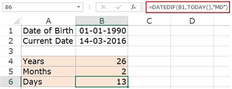Calculate birth date