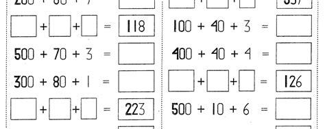 Cálculo de sumas de centenas, decenas y unidades 2do grado ...