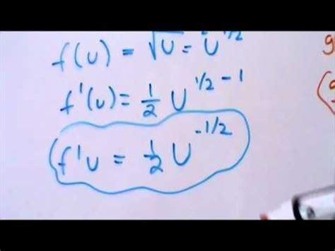 Cálculo Diferencial   Tutorial de Regla de la Cadena   YouTube