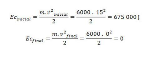 Cálculo do trabalho através da energia cinética - Mundo ...