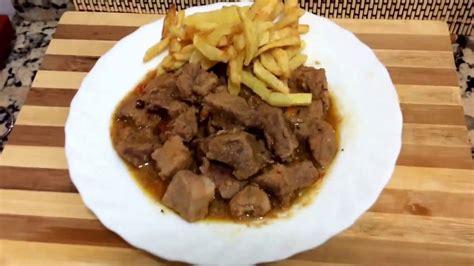 CALDERETA DE CERDO   Receta de cocina Española.   YouTube