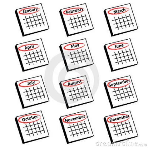 Calendar Months Clipart   Clipart Suggest