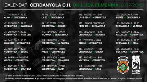 Calendari del Primer equip Femení OkLliga – Temp. 2017 ...