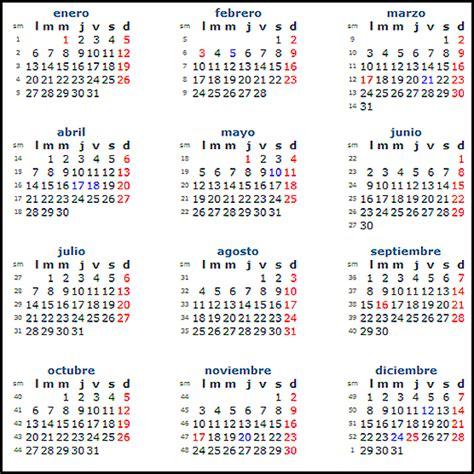 Calendario 2014 con festivos   Imagui