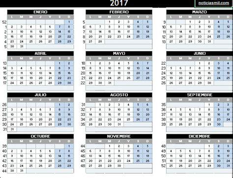 Calendario 2017 para imprimir – Calendario 2017